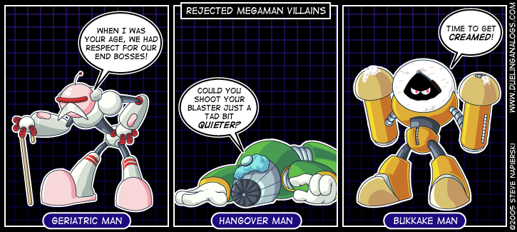 Rejected Mega Man Villains I