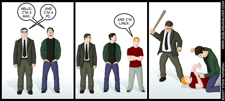 Hello, I'm Linux.