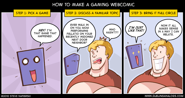 How to Make a Gaming Webcomic