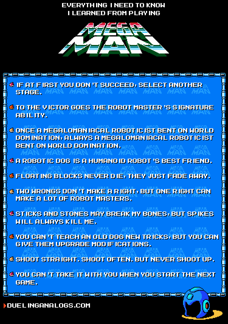 Everything I Need to Know I Learned from Playing Mega Man