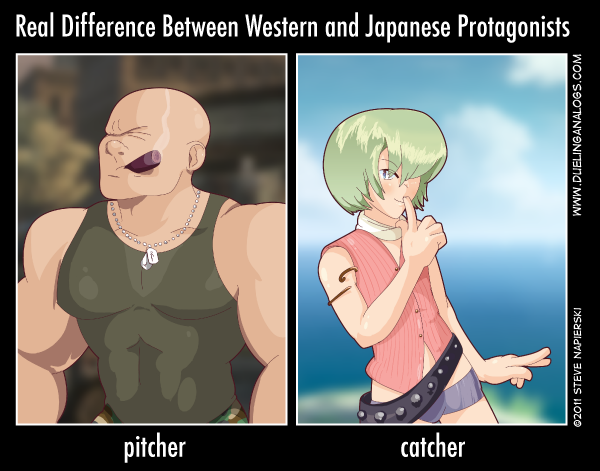 Real Difference Between Western and Japanese Protagonists