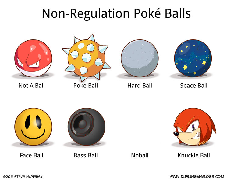 Non-Regulation Poké Balls
