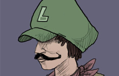 Hipster Luigi