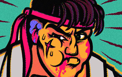 Defeated Street Fighter Trading Cards