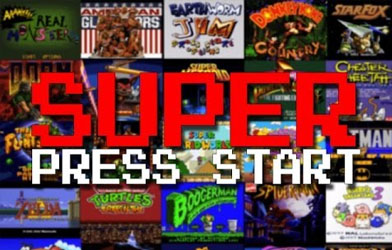 Super Press Start for Every Super NES Title Screen
