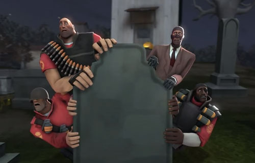 Team Fortress 2 and the Skeleton Dance