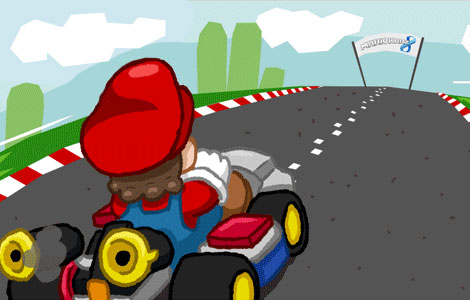 Nobody is Safe in Mario Kart
