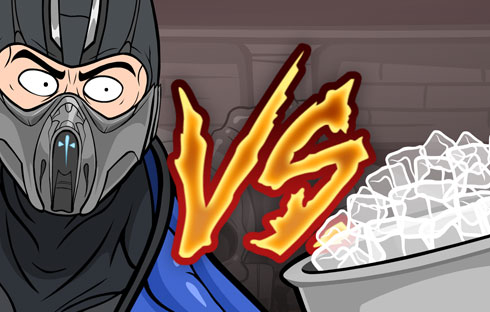 Sub-Zero takes the Ice Bucket Challenge