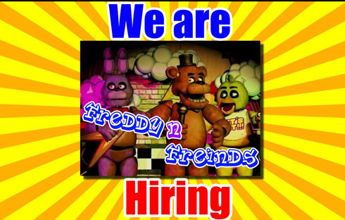 Freddy Fazbear's Pizza is Hiring