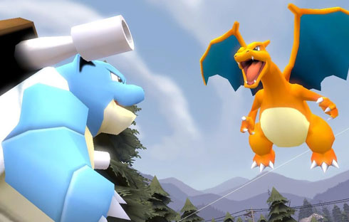 Blastoise vs. Charizard