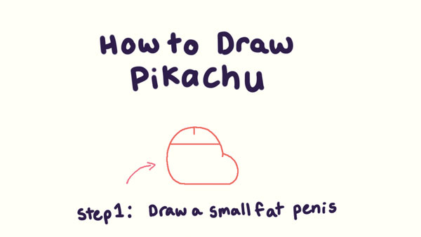 Step by Step Instructions for Drawing Pikachu
