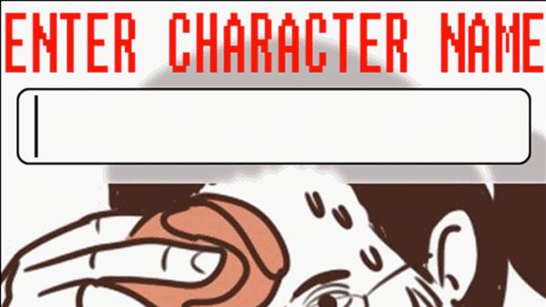 Enter Character Name
