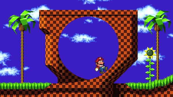 Mario vs. Green Hill Zone