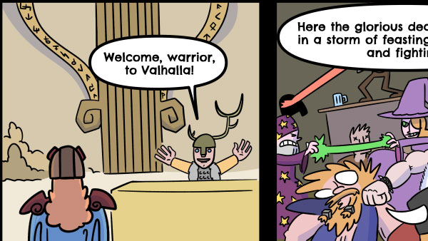 Why Dead D & D Characters Never go to Valhalla