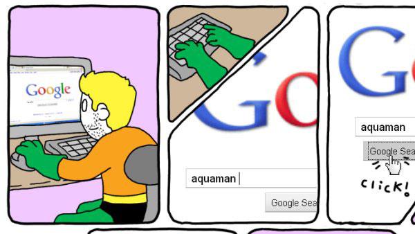 Aquaman Googles Himself