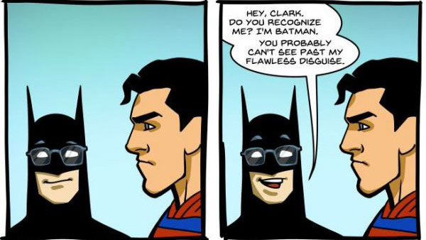 Batman Trolling Superman