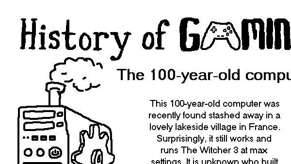 History of Gaming: The 100 Year-old Computer