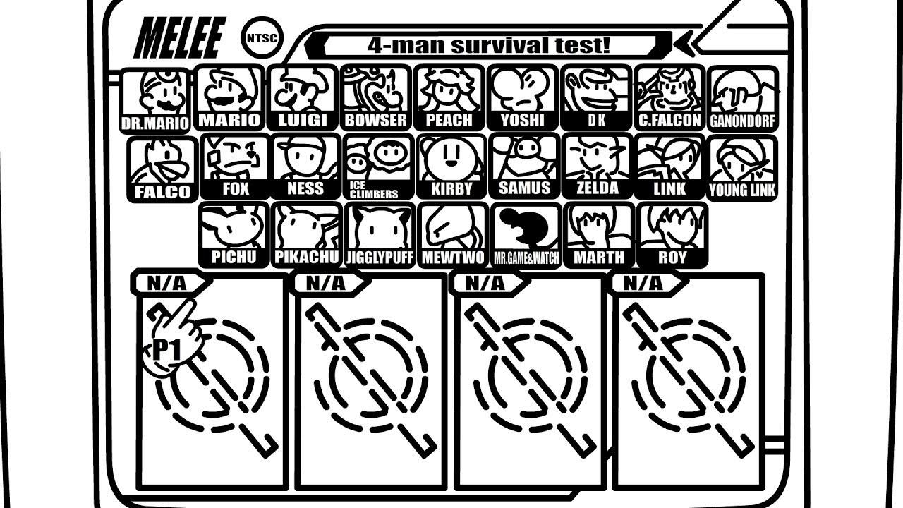 Character Select Screen Tech Skill