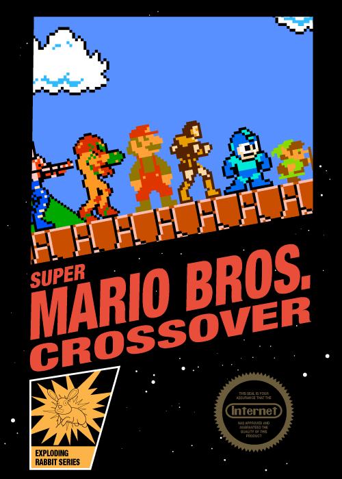 Classic Nes Style Box Art For Smbc Super Mario Bros Crossover