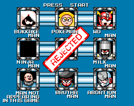 Rejected Mega Man Villains Shirt
