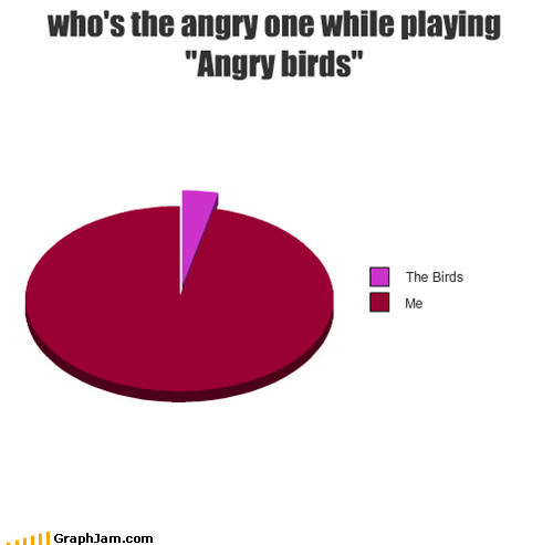 Who's the angry one while playing Angry Birds?