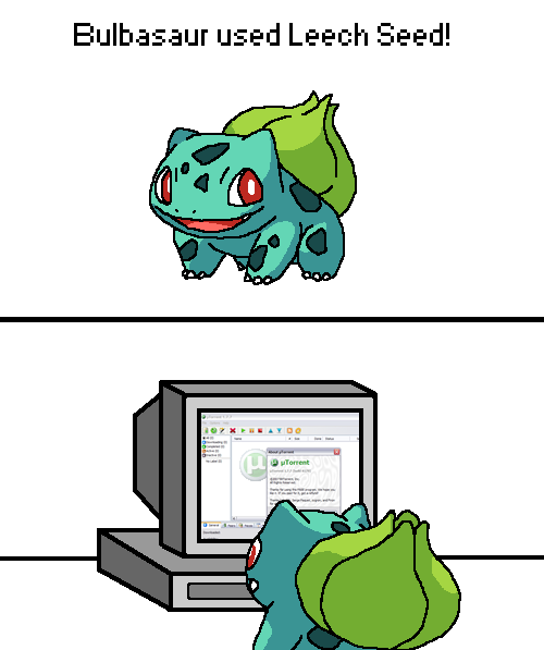 Bulbasaur used Leech Seed!