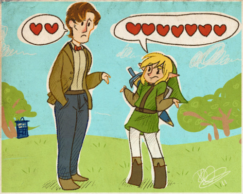 Doctor Who and Link about hearts