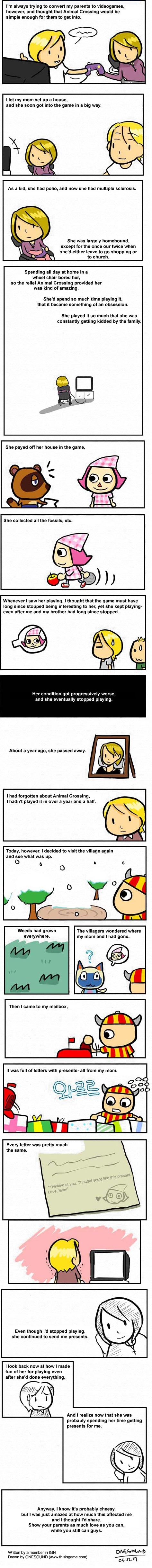 A tear jerking story about Animal Crossing