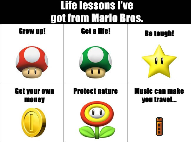 Life lessons I've got from Mario Bros.
