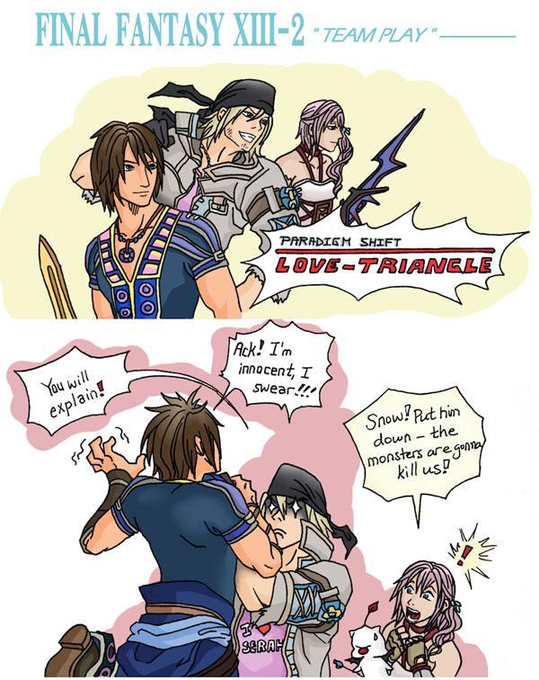 Final Fantasy XIII-2 - Team Play