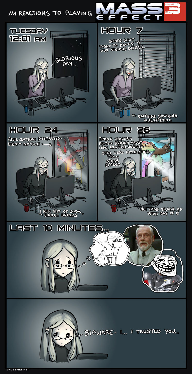 My reaction to playing Mass Effect 3