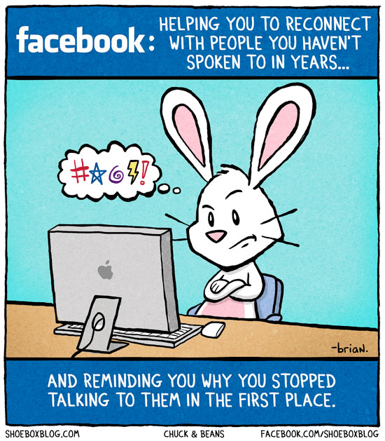 Facebook: Helping You To Reconnect With People You Haven't Spoken To In Years...
