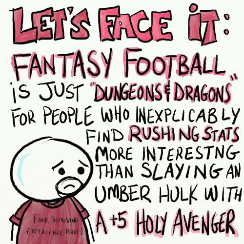 Fantasy Football and Dungeons 'n' Dragons