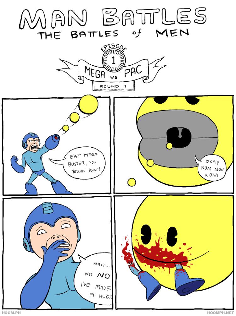 Man Battles: Mega vs. Pac