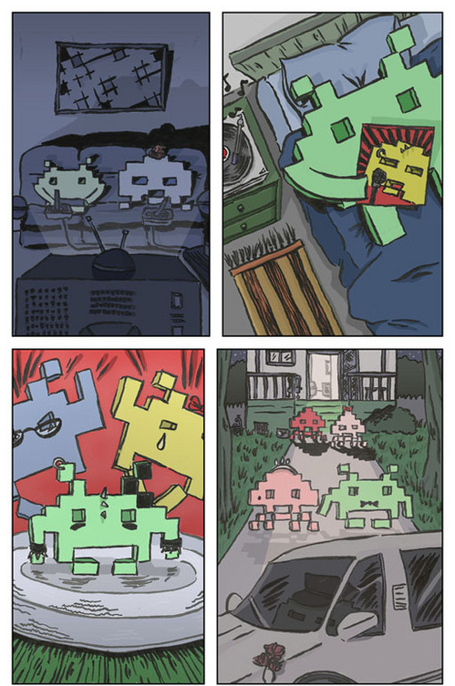 Space Invaders Comic