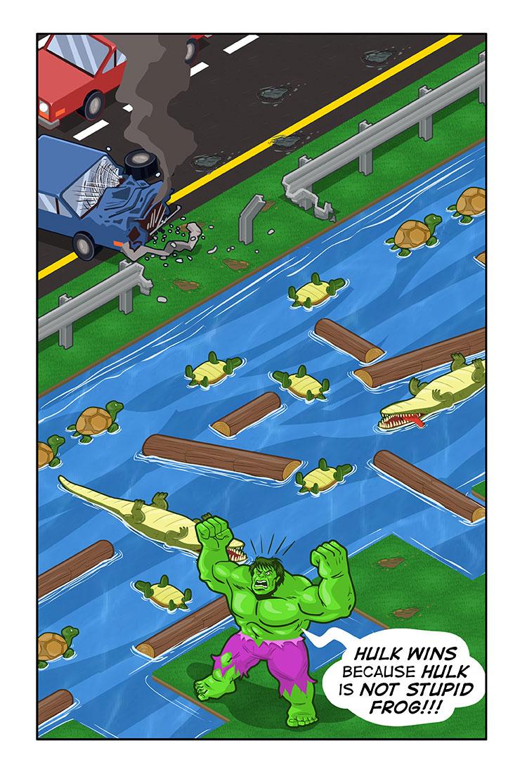 Hulk vs. Frogger
