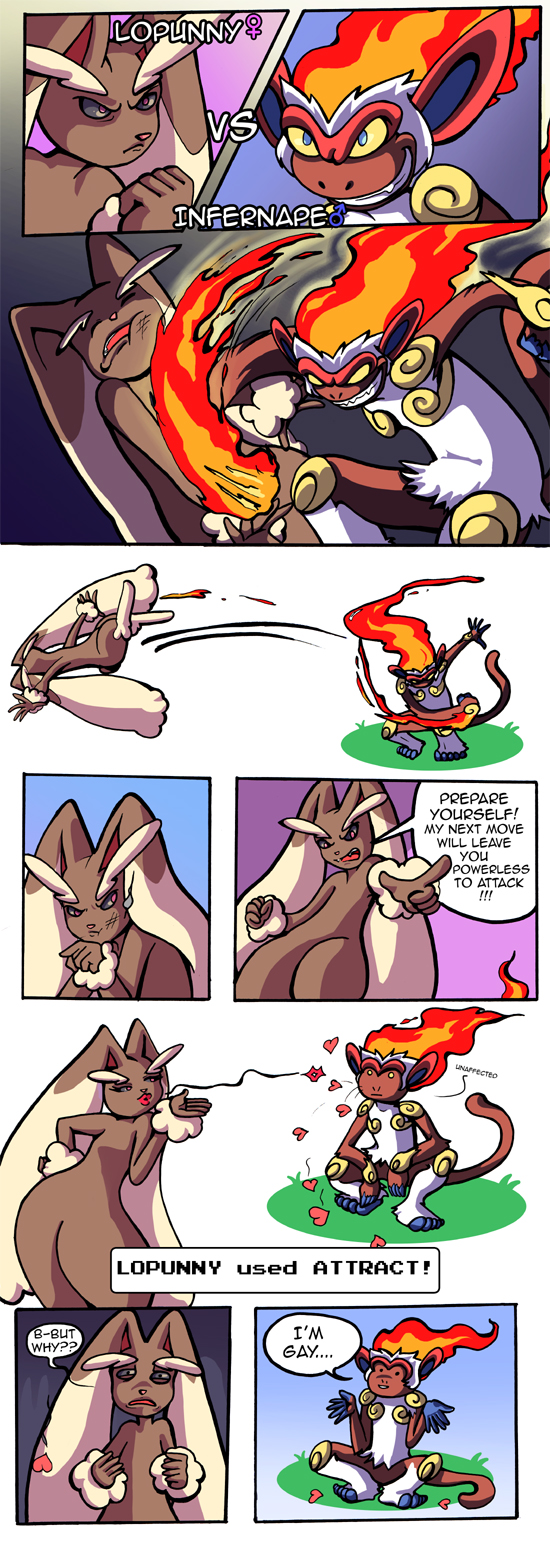 Lopunny vs. Infernape
