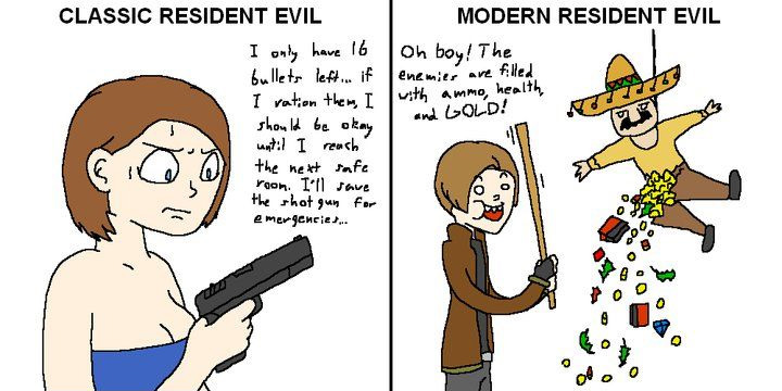 Classic vs. Modern Resident Evil