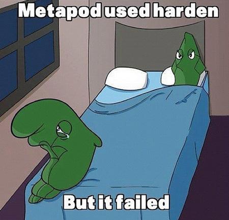 METAPOD used HARDEN