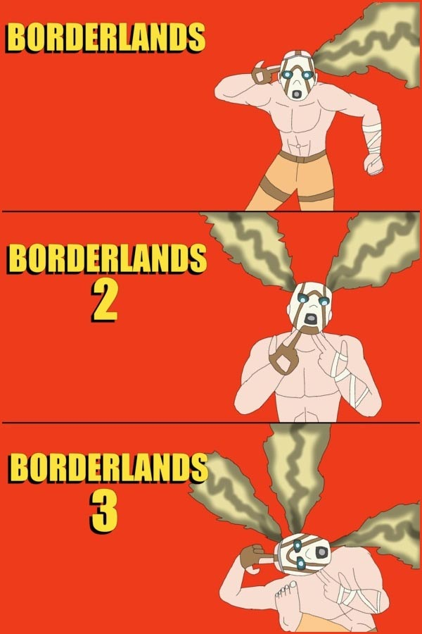 Evolution of Borderlands' Box Art