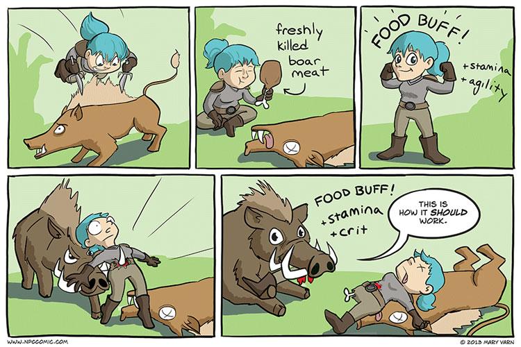 Gaming Comic - Food Buff - World of Warcraft