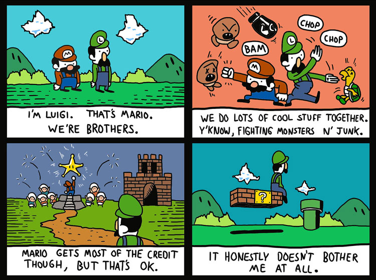 Gaming Comic - Good ol' Luigi - Super Mario Bros.