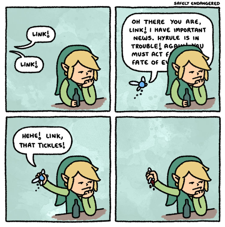 Gaming Comic - Not Today, Navi - Legend of Zelda