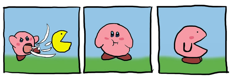 Kirby Meets Pac-Man