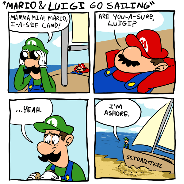 Mario and Luigi Go Sailing