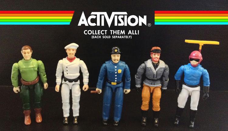 Custom Atari 2600 Era Activision Action Figures