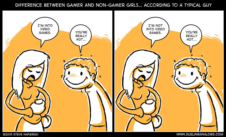 Difference Between Gamer and Non-Gamer Girls... According to a Typical Guy
