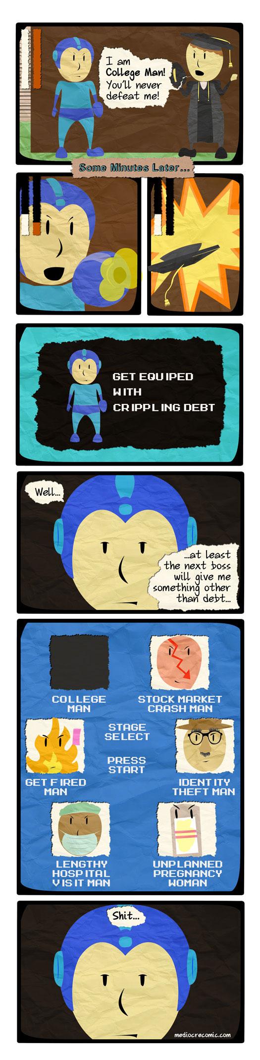 Mega Man Goes to College