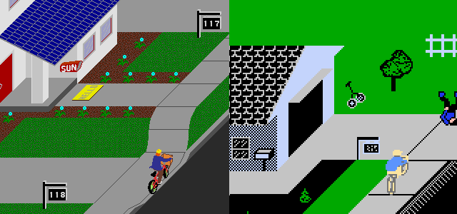 Paperboy: Arcade vs. Nintendo Entertainment System