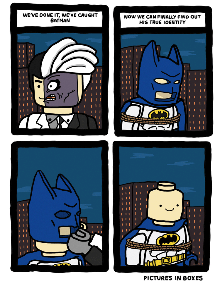 The Unmasking of LEGO Batman